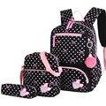 3 шт./компл. школьные сумки с принтом в горошек  рюкзак  школьный рюкзак  модные детские милые рюкзаки для детей  девочек  школьников  Mochilas