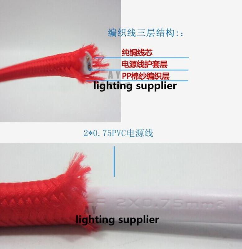 50 м/лот 2x0. 75mm2 EDISON ЛАМПЫ Провода текстиль Цвет Плетеный Провода Ткань Мощность шнур Провода кабель - 6