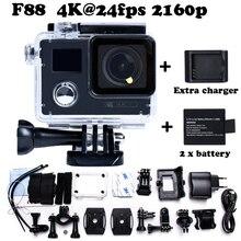 F88 Wi-Fi Спорт Действий Камеры Двойной Экран Ultra HD 4 К 2160 P экстремума водонепроницаемый Спорт go Камеры pro Стиль Добавить Зарядное Устройство и аккумулятор 1
