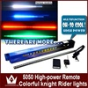 Free Shipment 12V 13 Modes 56CM LED Car Flash Knight Rider Light LED Blue Red Green