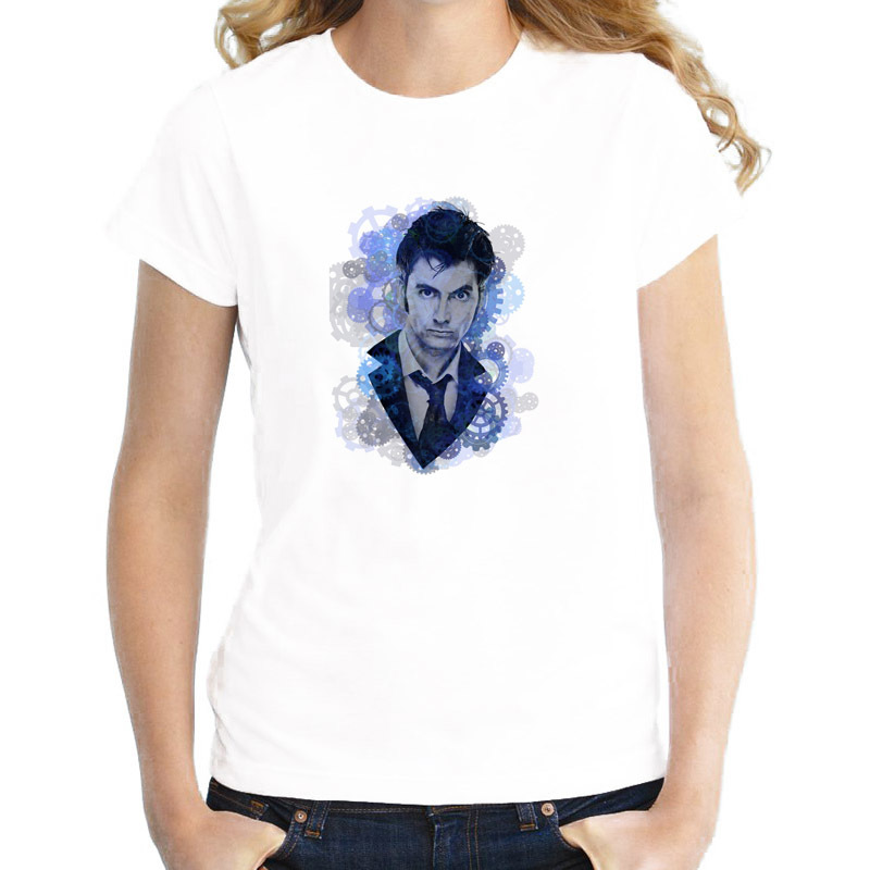 doctor who summer lovely girl T-Shirt female harajuku Print O-Neck tshirt women graphic tees Top kawaii WTW161