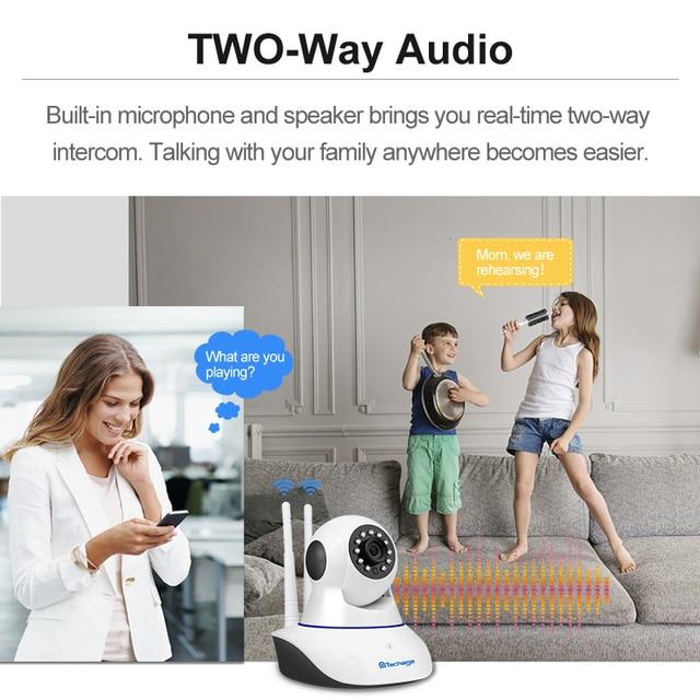 Techage 1080P 720P Wireless IP Camera Night Vision Baby Monitor Home Security 2MP 2-Way Audio Record CCTV Wifi Camera Yoosee APP 3