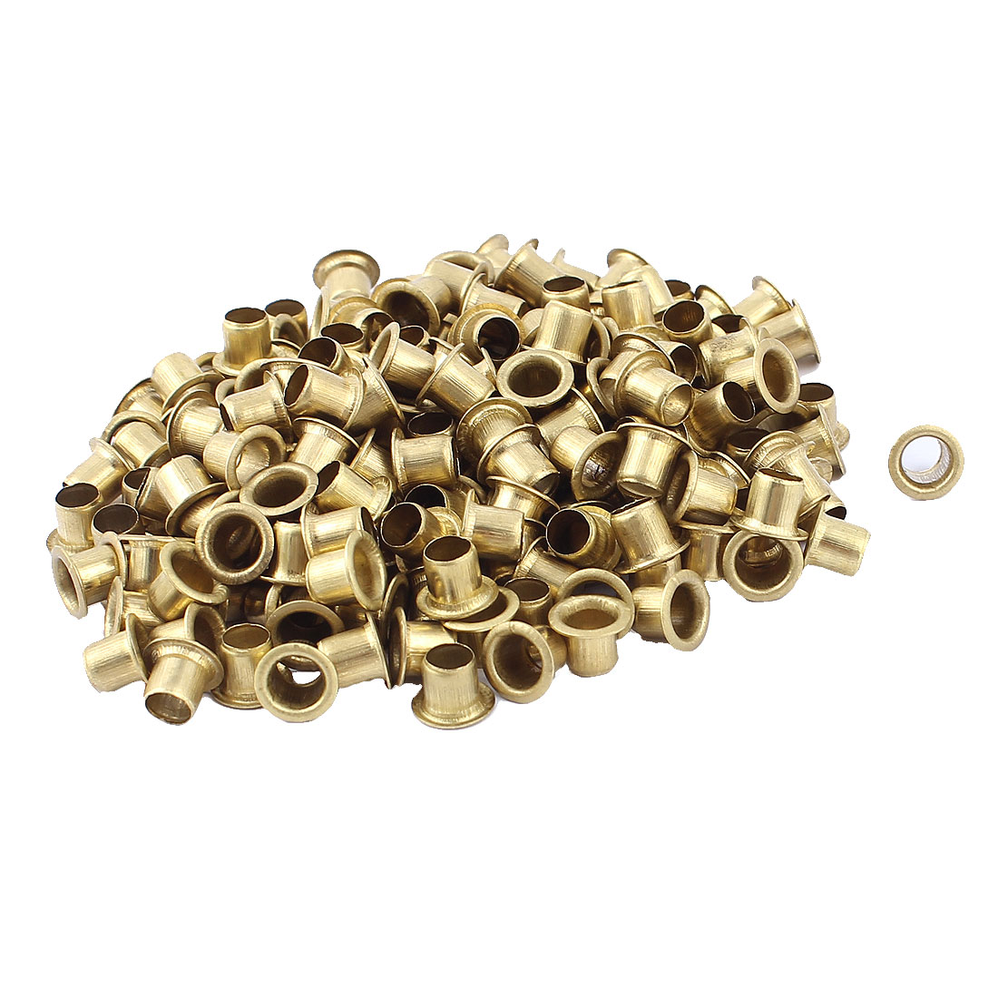 Uxcell 200pcs M6x6 Copper Via Vias Plated Through Hole Rivets Gold Circuit Board Hollow Grommets Pcb
