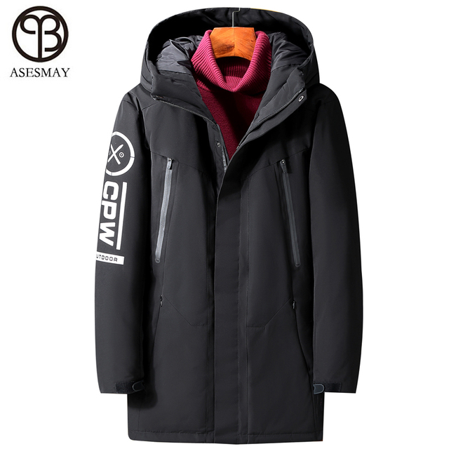 a820592e508 Asesmay 2018 men down jacket men winter coat goose feather russian military  coats for mens winter parkas hooded minus degree -25