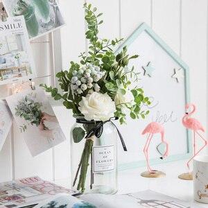 Image 3 - גיברת מלאכותי פרחים לחתונה אגרטלי פרחי בית תפאורה מלאכותי פרח זר עם אגרטל חתונת שולחן קישוט