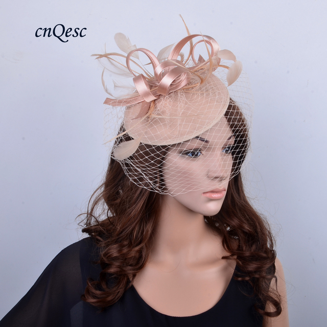 New colors felt fascinator hat sinamay with feathers and veiling for  Kentucky Derby 4bb62068b43