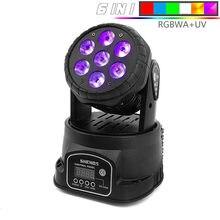 Mini LED lavage 7x1 2/18W RGBW tête mobile, éclairage de scène, contrôleur DMX 512 pour événements spectacle dj bandes lumineuses, meilleure vente