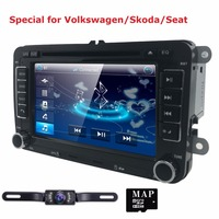 7 2 Din Car DVD GPS Built In Can Bus For VW Volkswagen POLO PASSAT B6