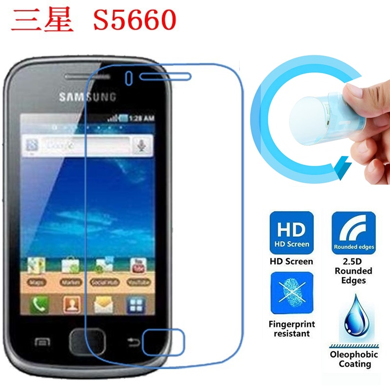 Screen Protective Film for Samsun S5660, Ultra-Thin HD Clear Soft Pet Screen Protector Film for Samsung Galaxy Gio GT S5660