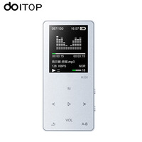 DOITOP Touch Screen Hifi MP3 Music Player 8GB Metal MP3 With Speaker Lossless Audio Player Portable Sports Walkman FM TF Card