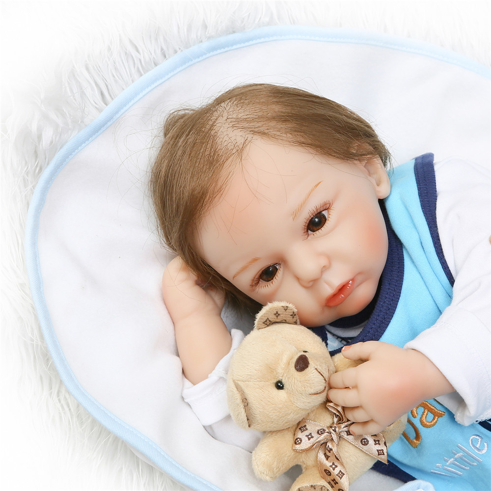 20 Realistic Asleep Reborn Babies 50 cm Silicone Baby Alive Dolls Reborn Toys Cloth Body kids Playmates Handmade DIY Xmas Gifts20 Realistic Asleep Reborn Babies 50 cm Silicone Baby Alive Dolls Reborn Toys Cloth Body kids Playmates Handmade DIY Xmas Gifts