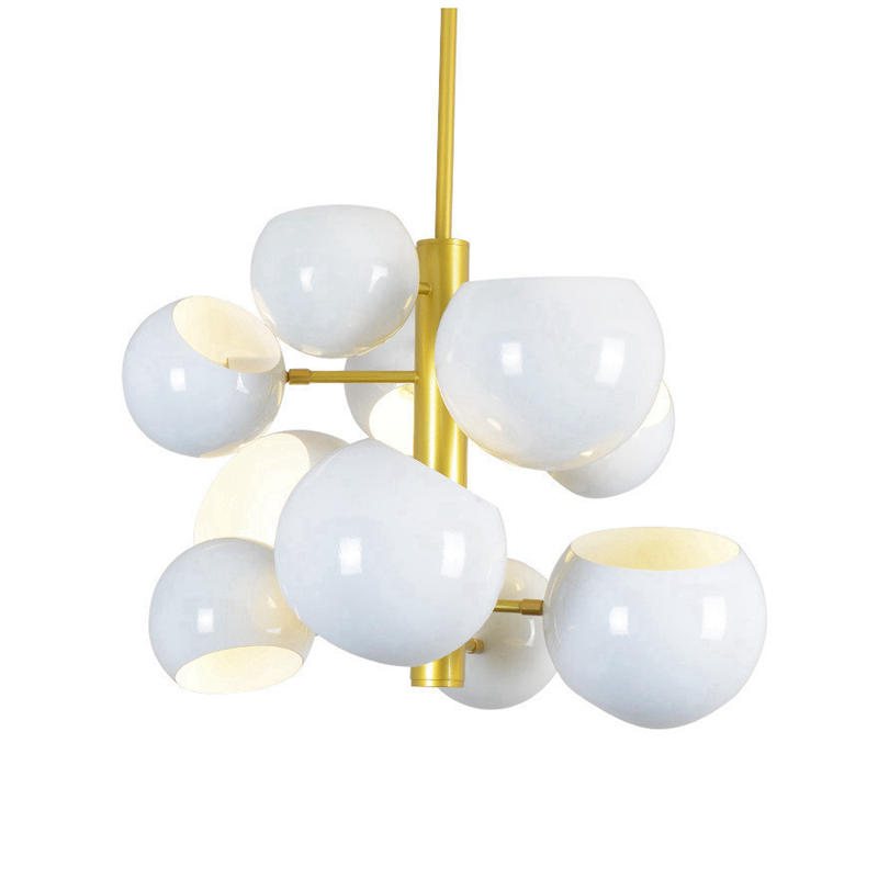 Nordic Modern 10 arm Pendant Light Creative LED hanging lamps black white for Coffee House Bedroom Suspension Hanging Ceiling black white creative pendant light ac220v 110v e27 metal modern led lamp pendant light lamp dia32x24cm hanging lamps for bedroom