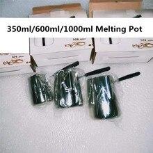 Восковой плавильный горшок из нержавеющей стали с бакелитовой длинной ручкой, восковой кувшин для мыла, кофе, латте, молочный кувшин