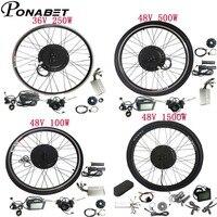 36v 48v electric bicycle battery 20 24 27.5 28 29 inch electric bike conversion kit motor wheel 250W 500W 1000W ebike e bike