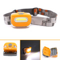 High Quality Mini Plastic 2 mode LED Headlight Headlamp Head Light Lamp Flashlight 3aaa Torch For Camping Hiking Fishing