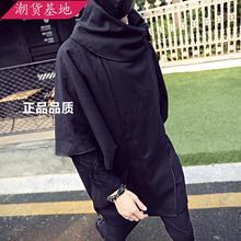 2017 мужская мода Мужской шерстяной верхняя одежда персонализированные плащ пальто мода певица одежда