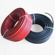 Солнечный разъем MC4 кабель 6.0mm2 черный или красный TUV& UL одобренный кабель питания 10AWG 5 м красный и 5 м черный