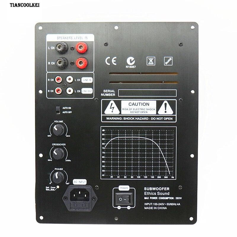Новая сборка высокой мощности 280 Вт 1,0 цифровой HIFI сабвуфер усилитель доска активный усилитель доска домашний усилитель для сабвуфера