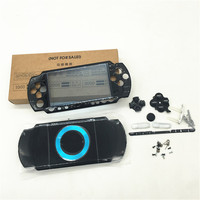 black color shell For PSP 2000 PSP2000 Console Shell Housing Case Cover with buttons kit free shipping