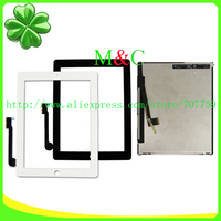 100 LCD Display For IPad 3 For IPad 4 With Touch Screen Assembly Free Shipping With