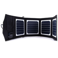 NEW 14W Portable Folding Solar Charger For Iphone 12V Battery Charger Solar Panel Charger External Backup