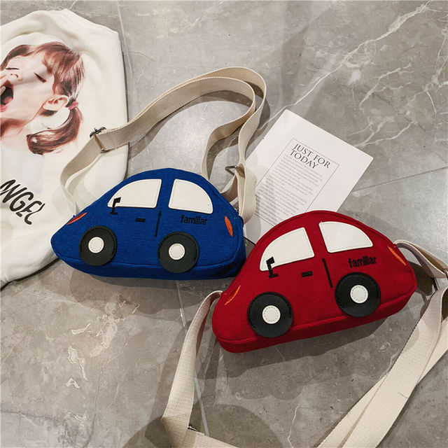 2019 Brand New Children Baby Boys&Girls Cute Cartoon Car Shoulder Bag Handbags Casual Mini Crossbody Purse Wallet Packet 1