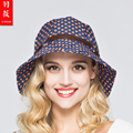 2016 New Lady Sun Visor Hat Lady 5 Color UV Sunscreen Summer Hat Wide Brim Folding Windproof Anti-uv Outdoor Caps  B-3705