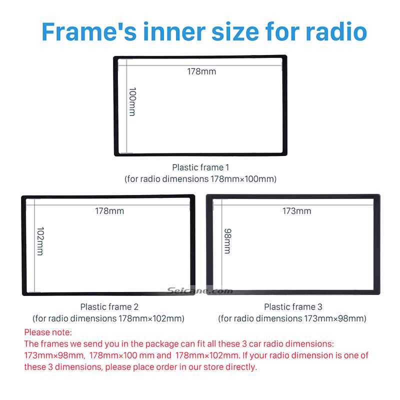 Image 3 - Seicane 2 Din Car Radio Fascia Trim Kit for 2006+ Opel Vectra Astra Zafira Stereo Dash CD Frame Panel Audio Cover Fitting Kit-in Fascias from Automobiles & Motorcycles