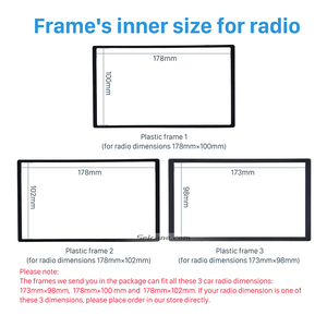 Image 3 - Seicane 2 Din Car Radio Fascia Trim Kit for 2006+ Opel Vectra Astra Zafira Stereo Dash CD Frame Panel Audio Cover Fitting Kit