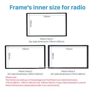 Image 3 - Seicane 2 din car radio fascia 트림 키트 2006 + opel vectra astra zafira 스테레오 대시 cd 프레임 패널 오디오 커버 피팅 키트
