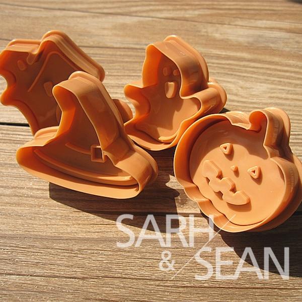 SLH087 Halloween series Plunger Fondant Biscuits Cutter Decorating Sugarcraft Gum Paste Tools Cupcake Kitchen Cookie accessories