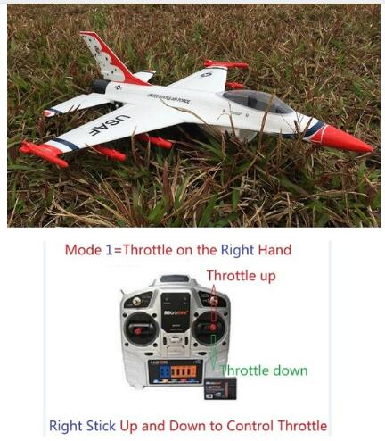 RC EDF Jet Plane F16 50mm RTF Ready To Fly, NO Battery