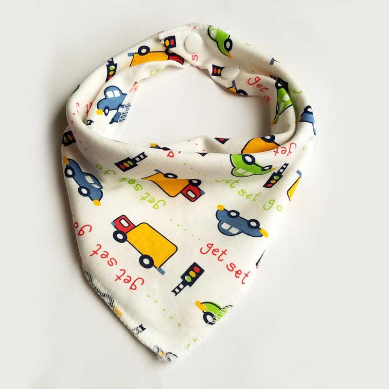Baberos de bebé patrón de dibujos animados bebé Toalla de Saliva impermeable triangulo doble capas de algodón Burp ropa de alimentación infantil