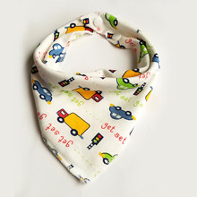 Baby Bibs Cartoon Pattern Toddler Baby Waterproof Saliva Towel triangle double layers Cotton Infant Burp Cloths Feeding(China)