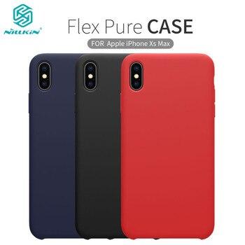 IPhone XS için/XS Max XR 2018 telefon kılıfı Nillkin Lüks Sıvı Yumuşak Silikon Daha Güçlü Koruyucu arka kapak Kabuk için iPhone