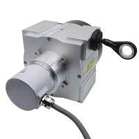 SSI Saída CALT 10000 milímetros Fio Empate Corda Sensor de Deslocamento Linear Sensor De Posição do Cabo do Encoder Absoluto Substituir FSG TKW