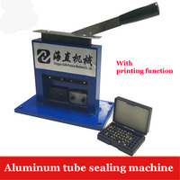 1PC Aluminum Tube Sealing Machine Teeth Paste Tube Sealer Aluminum Stamping Sealer With Expiration Codes Manual