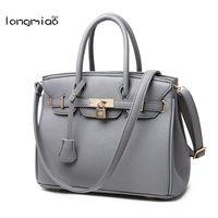 Longmiao High Quality Women Handbag European Casual Tote Bag Women Messenger Bags Luxury Designer Handbags Bolsas
