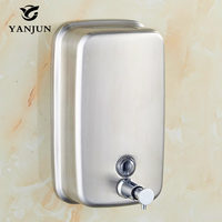 Yanjun Wall Mounted L Hand Soap Dispenser Washroom S Steel 304 Manual Liquid Shower Gel