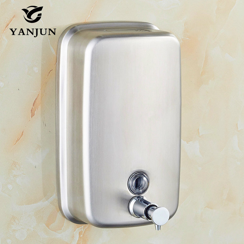 Yanjun Wall Mounted L Hand Soap Dispenser Washroom S. Steel 304   Manual Liquid Shower Gel YJ-2613