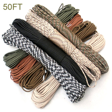 Hiking Rope Paracord-Tent Climing Camouflage Lanyard Strands Survival Outdoor 4MM 7-Inner