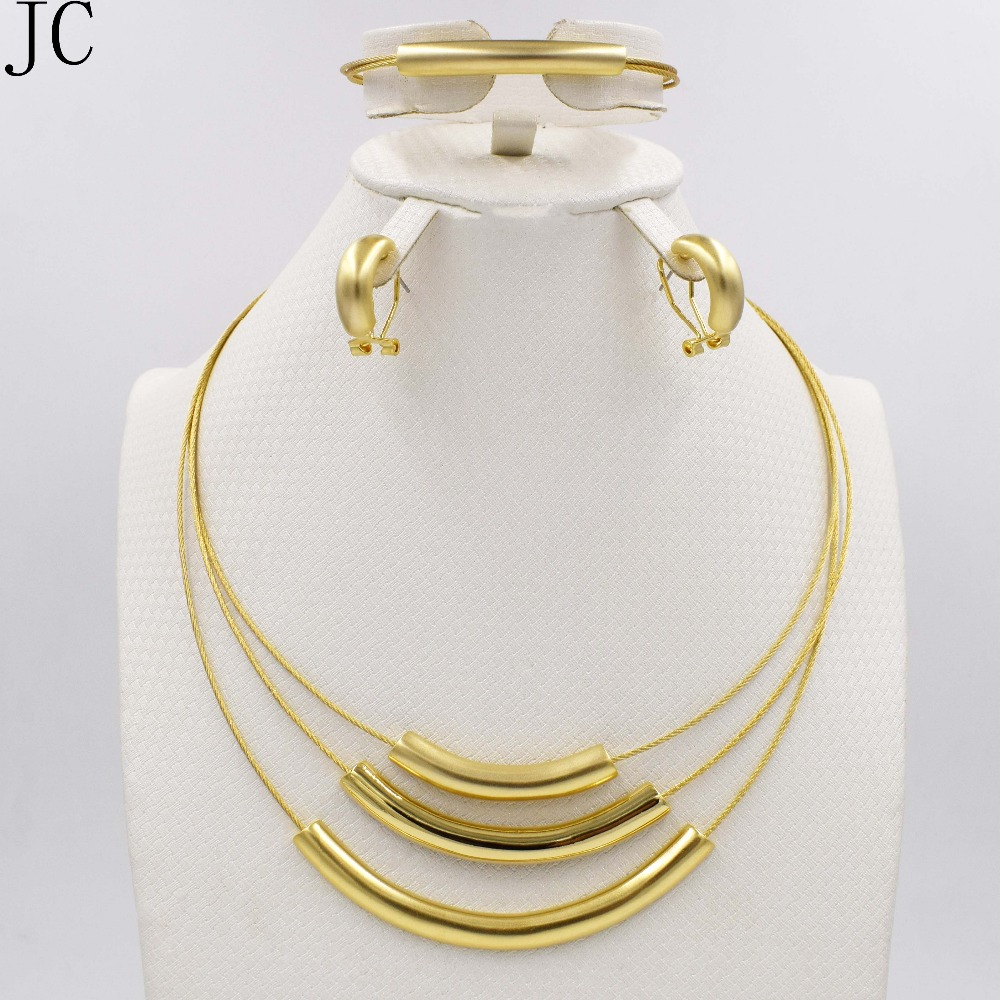 New High Quality set Dubai African 18k real Gold Plated 3color set Fashion Wedding Bridal Costume