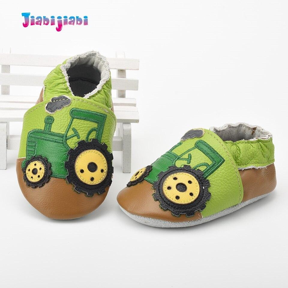 Nieuwe baby lederen schoenen jongen schattige trekker auto schoenen - Baby schoentjes - Foto 4