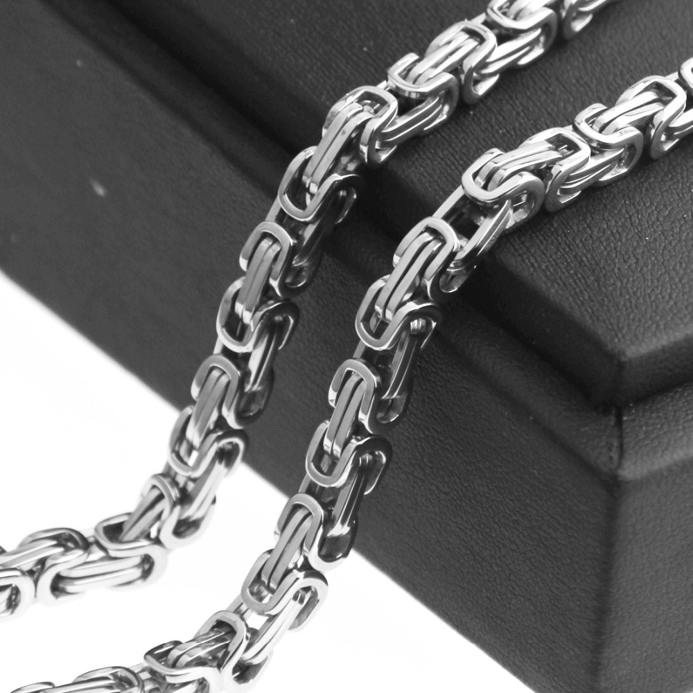 4/6/8/10/12/15mm New Arrive Stainless Steel Silver Byzantine Box Link Chain Necklace Or Bracelet Men's Women's Jewelry 7-40inch