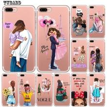 Fashion Super mom Dad Girl Baby Phone Case for Funda