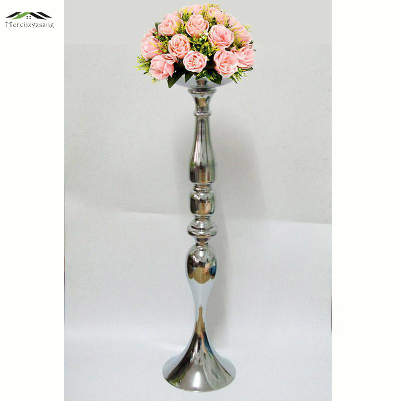 wedding flower stands for sale aliexpress buy new silver candle holders 73cm 30 9523