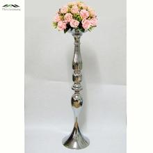 Nové stříbrné svíčky 73cm / 30 '' Stojánek na květiny Vázy Svícny Silniční ozdoby Svíčky Svíčky Svatební dekorace 06802