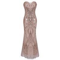 Women luxury Sequin Dress 2018 Summer Formal Long Party Dress Strapless Pink Eelegant Ball Prom Gown Long Maxi Dress