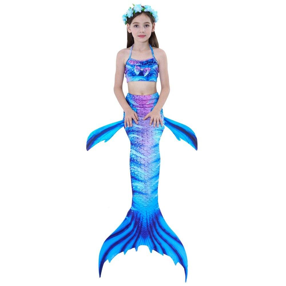 2018 Little Children Mermaid Tails For Swimming Kids Baby Girls Swimsuit Bikini Set Dress Cosplay Swimming Mermaid Tail Costume