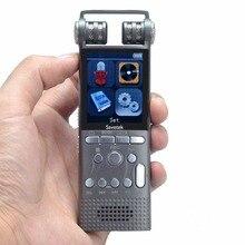 Gravador de voz de áudio digital ativado por voz profissional 16 gb 8 gb 32GB caneta usb sem parar 100hr gravação pcm 1536 kbps apoio tf cartão